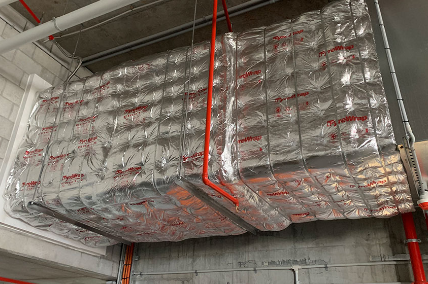 Fyrewrap to mechanical duct work