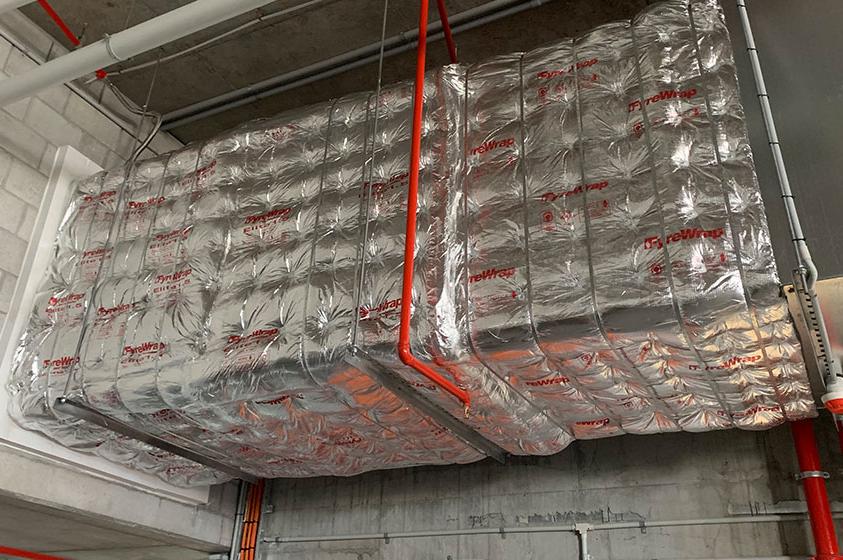Fyrewrap to mechanical duct work