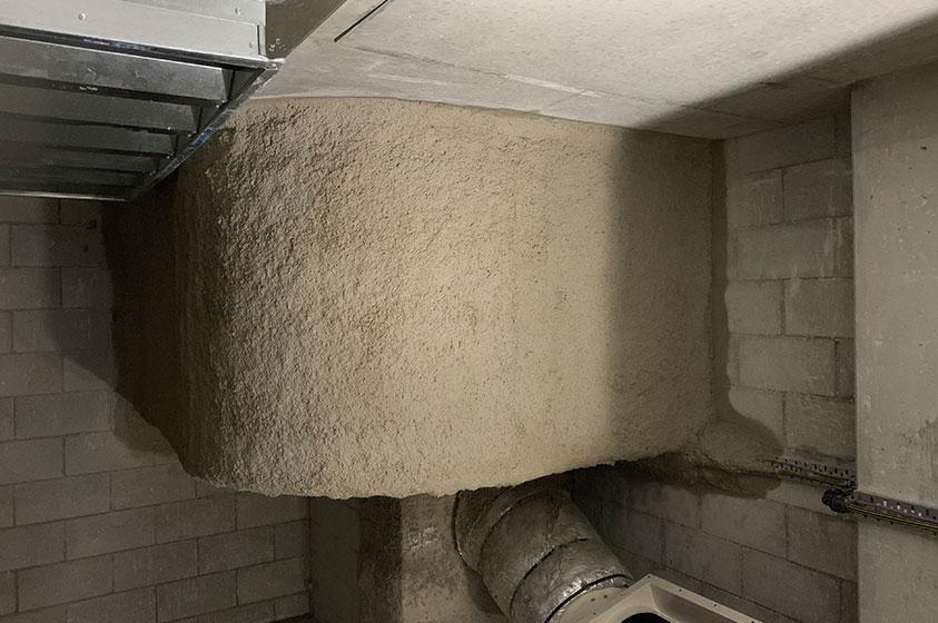 Promaspray to mechanical duct work
